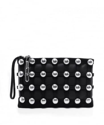 Roxy Studded Cage Clutch Bag