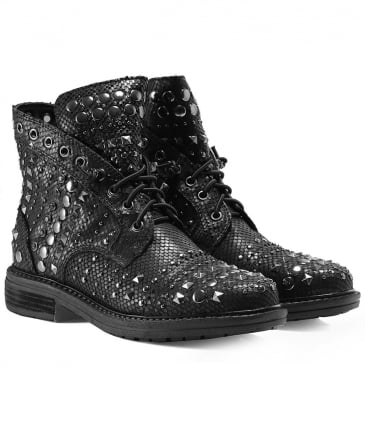 Studded Leather Viper Boots