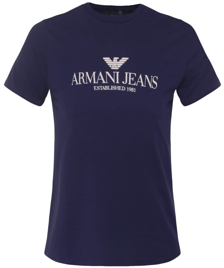 armani jeans logo impression t shirt jules b. Black Bedroom Furniture Sets. Home Design Ideas