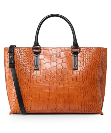 Crocodile Effect Shopper Bag
