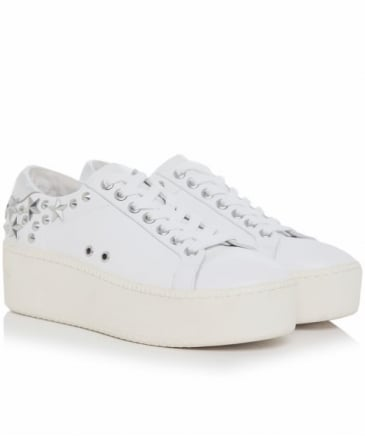 Leather Cyber Studded Trainers