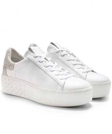 Leather Detox Platform Trainers