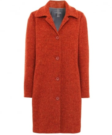 Wool Leandra Button Down Coat