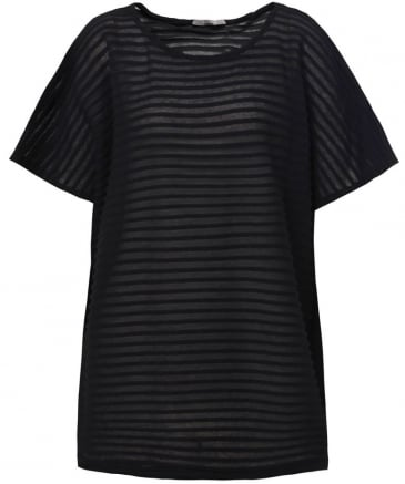 Hera Sheer Ribbed T-Shirt