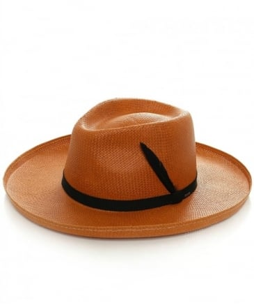 Fernley Straw Fedora Hat