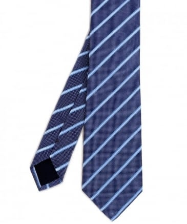 Jacquard Striped Silk Tie