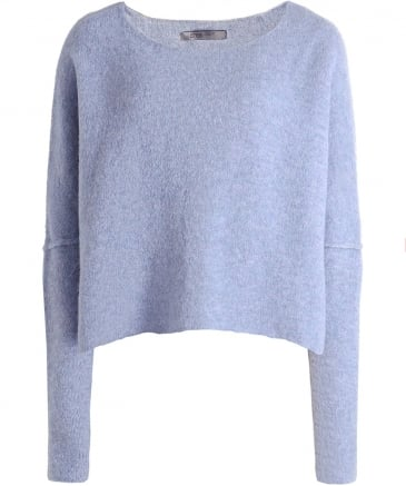 Wool Box Fit Cropped Jumper