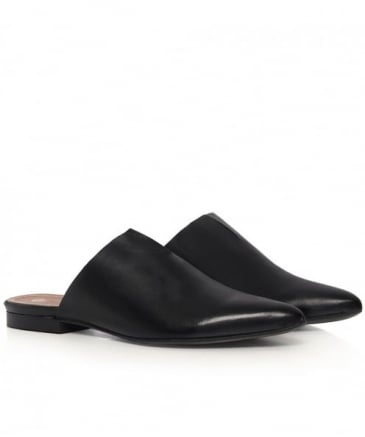 Amelie Leather Slip On Flats