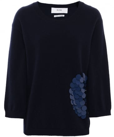 Wool Nikita Sequin Patch Jumper
