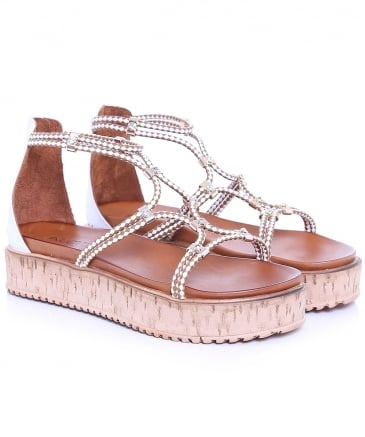 Braided Diamante Sandals