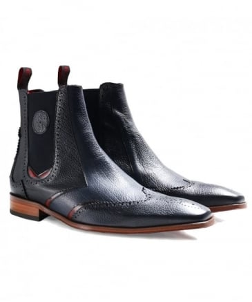 Leather Scarface Chelsea Boots