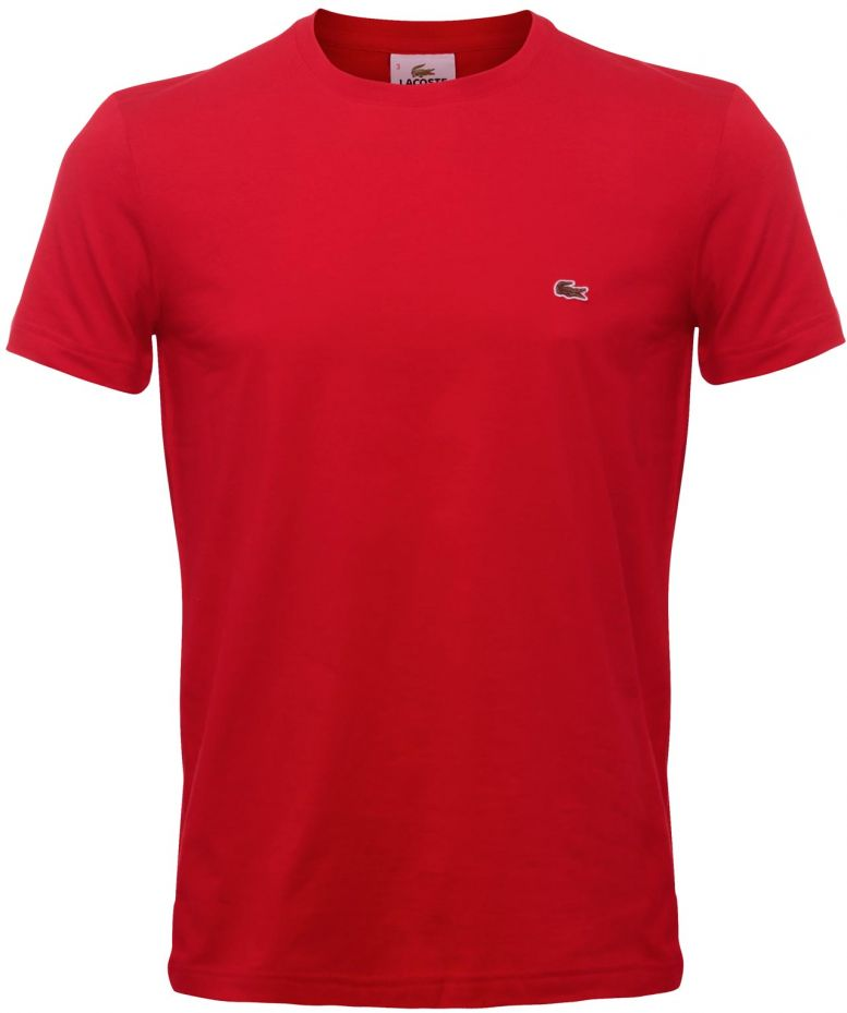 lacoste rouge jersey crew neck t shirt disponible jules b. Black Bedroom Furniture Sets. Home Design Ideas