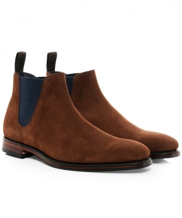 Suede Caine Low Chelsea Boots