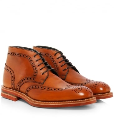 Calf Leather Reading Derby Boots