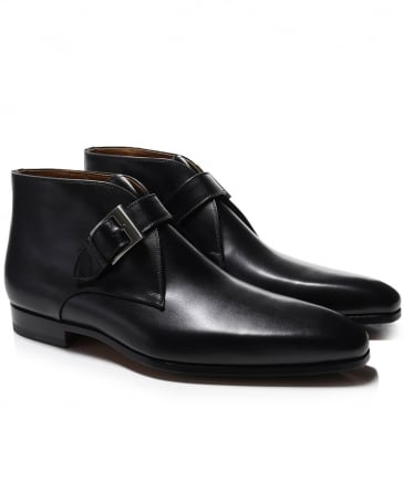 Leather Monk Strap Boots