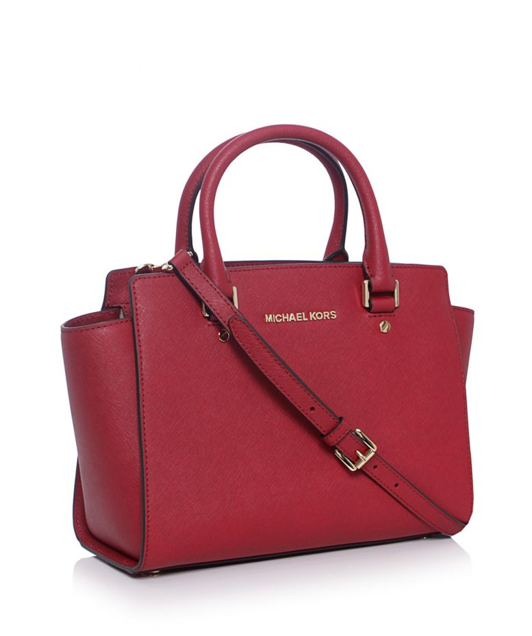 michael michael kors rouge selma medium satchel bag disponible jules b. Black Bedroom Furniture Sets. Home Design Ideas