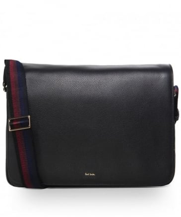 Pebbled Leather New City Messenger Bag