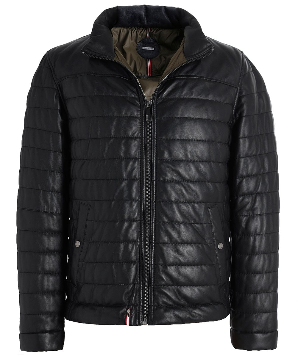 Jacket Matelassé Cuir En Footloose B Noir Déflecteur Jules Oakwood HP1qwzx