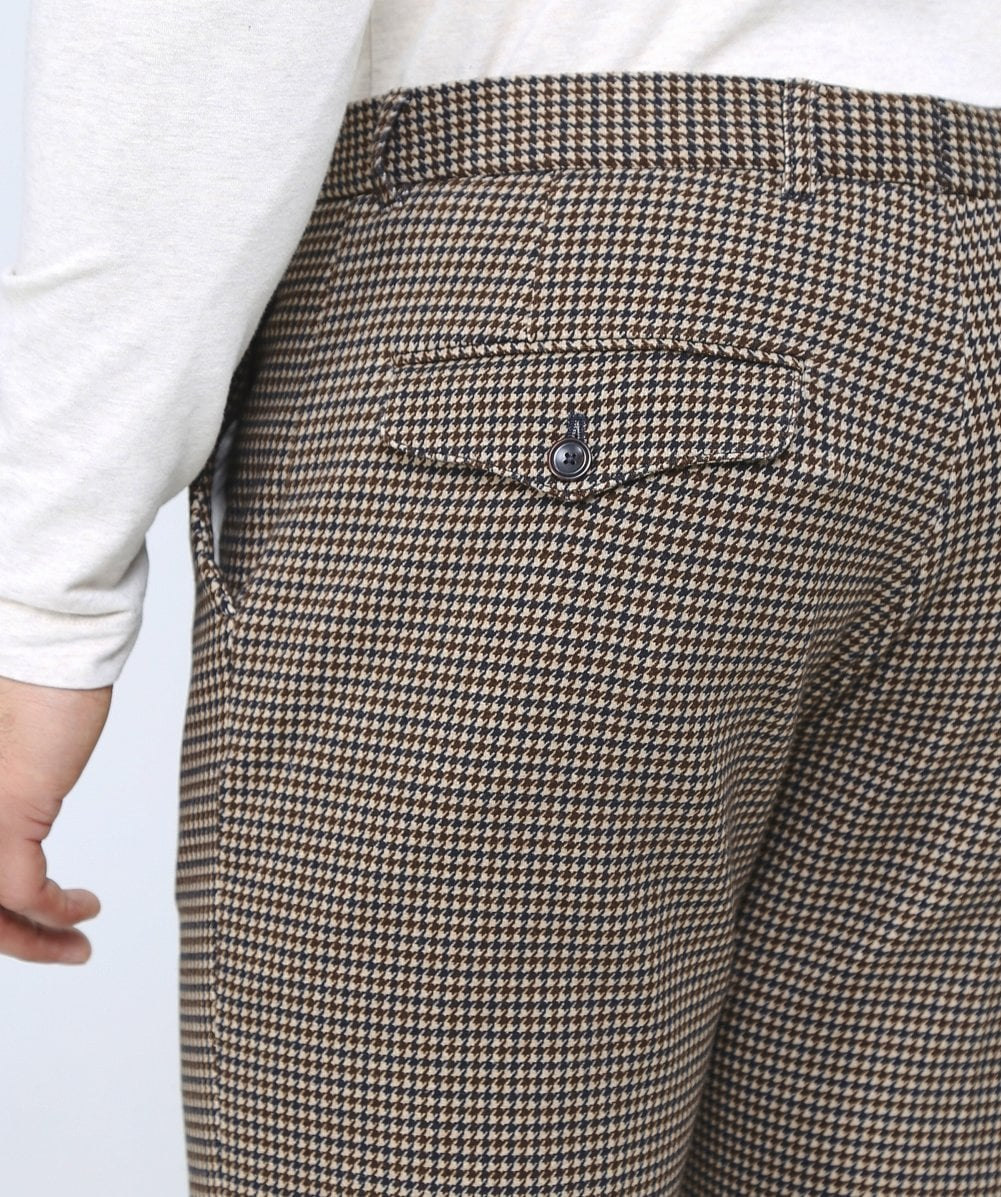 83c5a2274bbad Circolo 1901 Jersey forme Slim Beige Houndstooth pantalon   Jules B