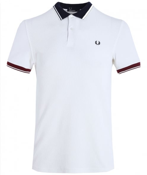 Fred Perry striées garniture pique polo shirt