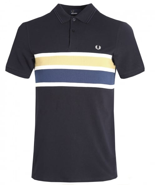Fred Perry rayure panneau polo shirt