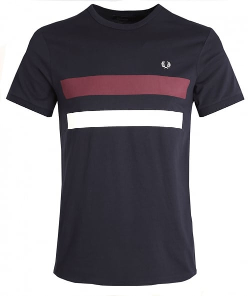 Fred Perry panneau de bloc Crew neck t-shirt