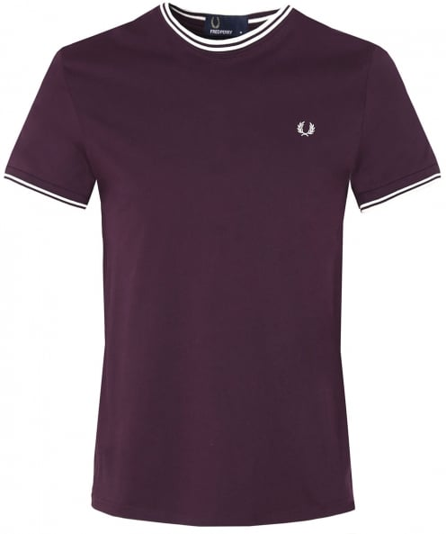 Fred Perry double t-shirt à bout