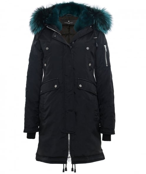 Nicole Benisti fourrure trim parka madison