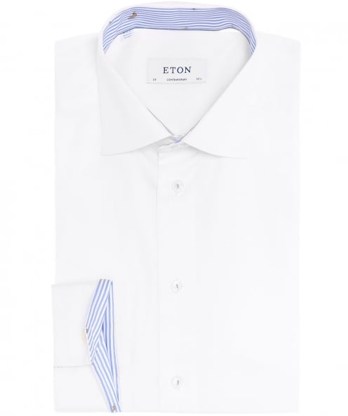 Eton chemise de garniture contemporaine forme banane