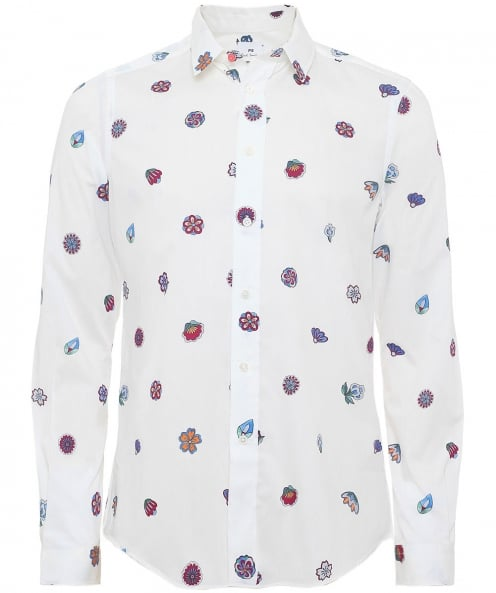 PS by Paul Smith Slim fit chemise floral