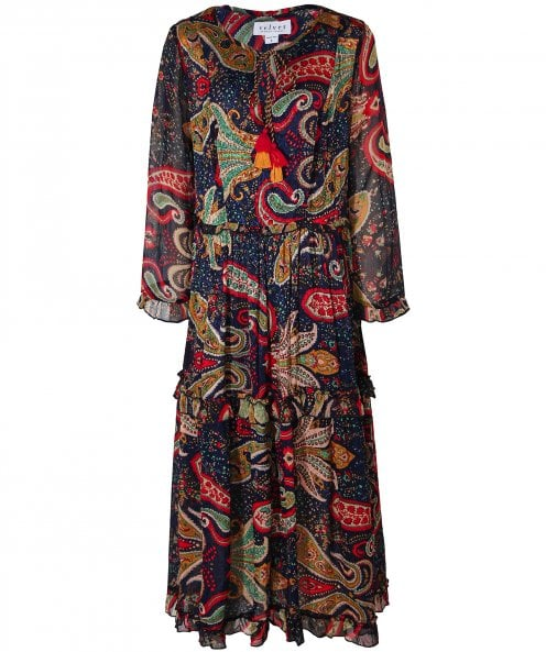 Velvet by Graham and Spencer lueur Paisley robe à étages