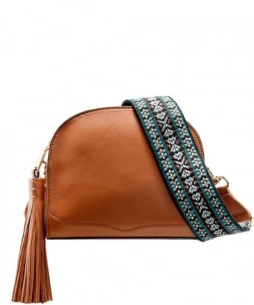 Leather Sunday Moon Crossbody Bag