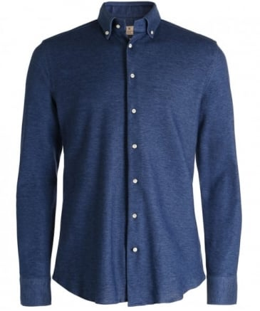 Slim Fit Knitted Cotton Shirt