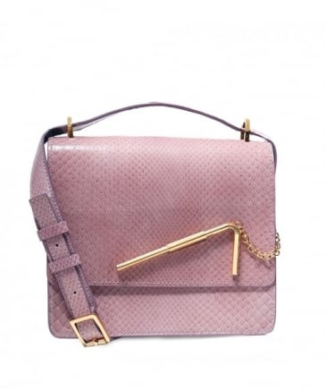 Medium Python Straw Catch Bag
