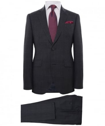 Wool Contrast Check Suit