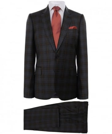 Tailored Fit Wool Check Suit