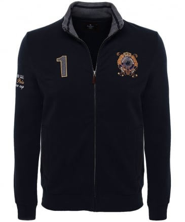 Zip-Through Snow Polo Sweatshirt