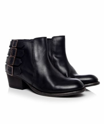 Leather Encke Buckle Boots