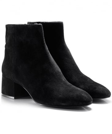 Suede Dragon Ankle Boots