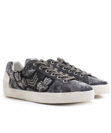 Printed Satin Nak Arms Trainers