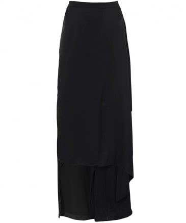 Vada5 Drape Front Wide Leg Trousers