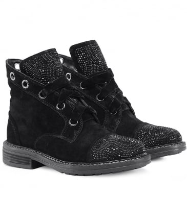 Suede Crosta Diamante Boots