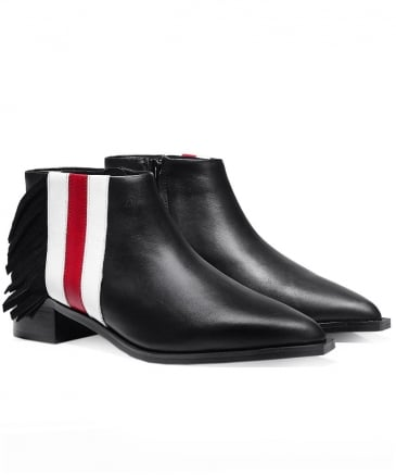 Leather Lawrence I Contrast Stripe Boots