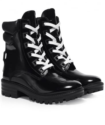Polished Leather East Boots