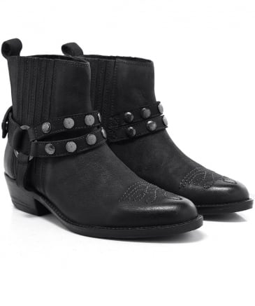 Leather Magnetar Cowboy Boots
