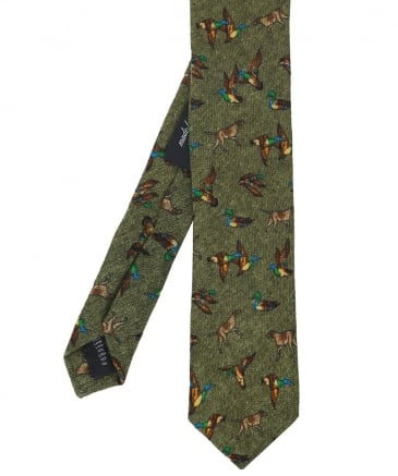Animal Patterned Wool Tie