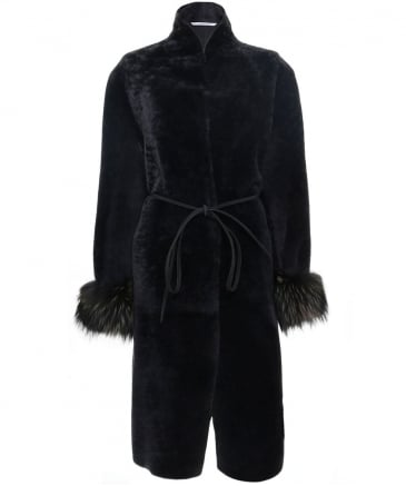 Reversible Fur Cuff Coat