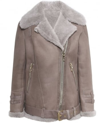 Shearling Teddy Aviator Jacket
