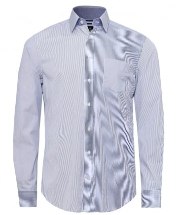 Multi Panel Striped Shirt