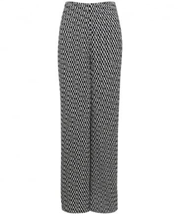 Pleated Chiffon Urielle Trousers